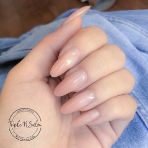 Nude Nail Extensions in London