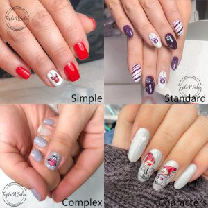 London Christmas nail art designs