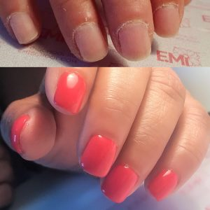 Russian manicure transformation