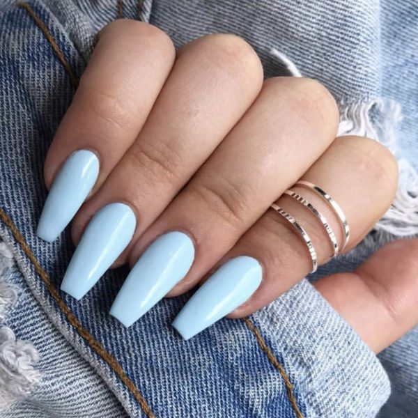 Nail extensions with gel polish