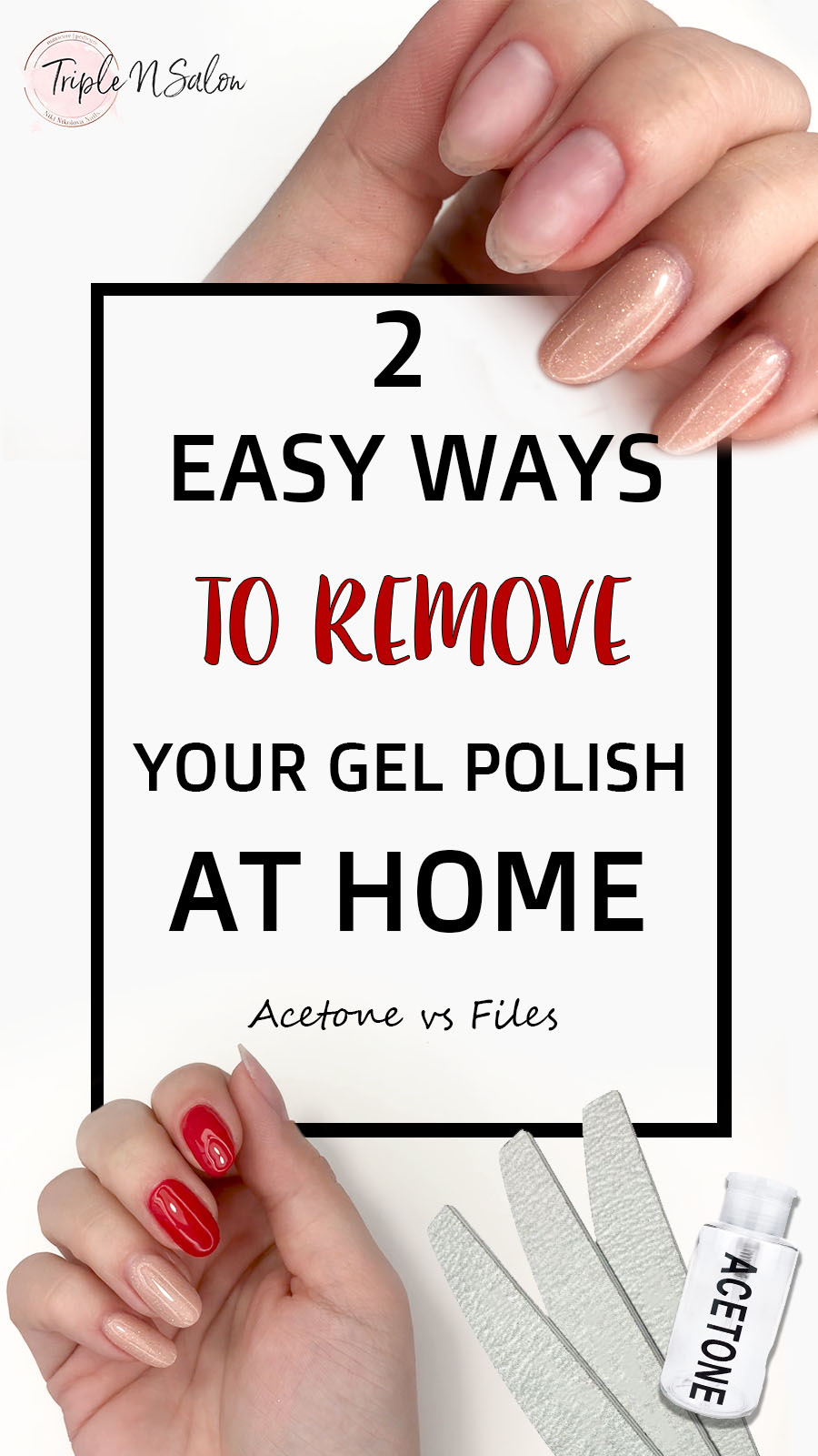 How to safely remove gel polish at home?