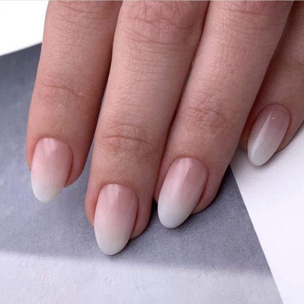 babyboomer ombre nails in london