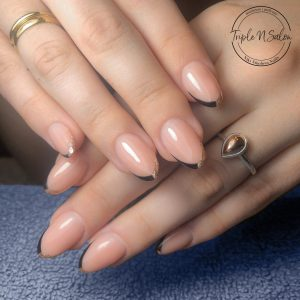 christmas french manicure london