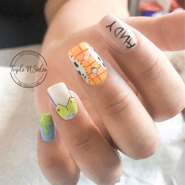 disney toy story nail art design in london