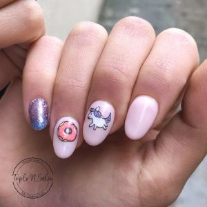 Unicorn cute character nail art