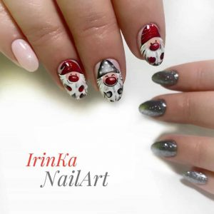 Santa claus nail art in london