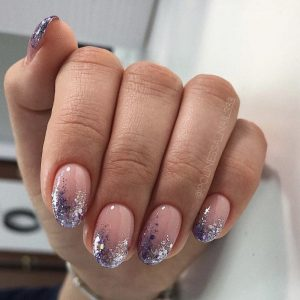 glitter fade nails in london – ombre glitter