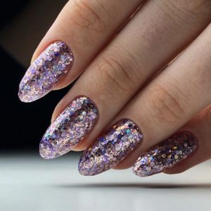 full glitter nails in london
