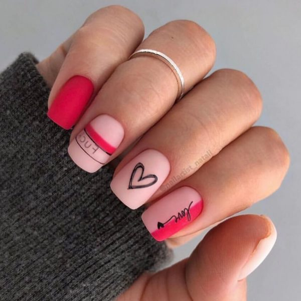 fuck love nail art valentine nail art in london