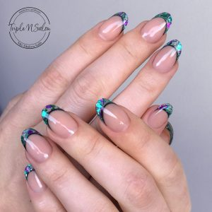 nail extensions see through encapsulated acrylics london