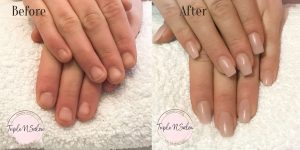 acrylic nails before and after london