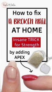how to fix a broken nail at home and give it apex to make it strong. insane trick for strength