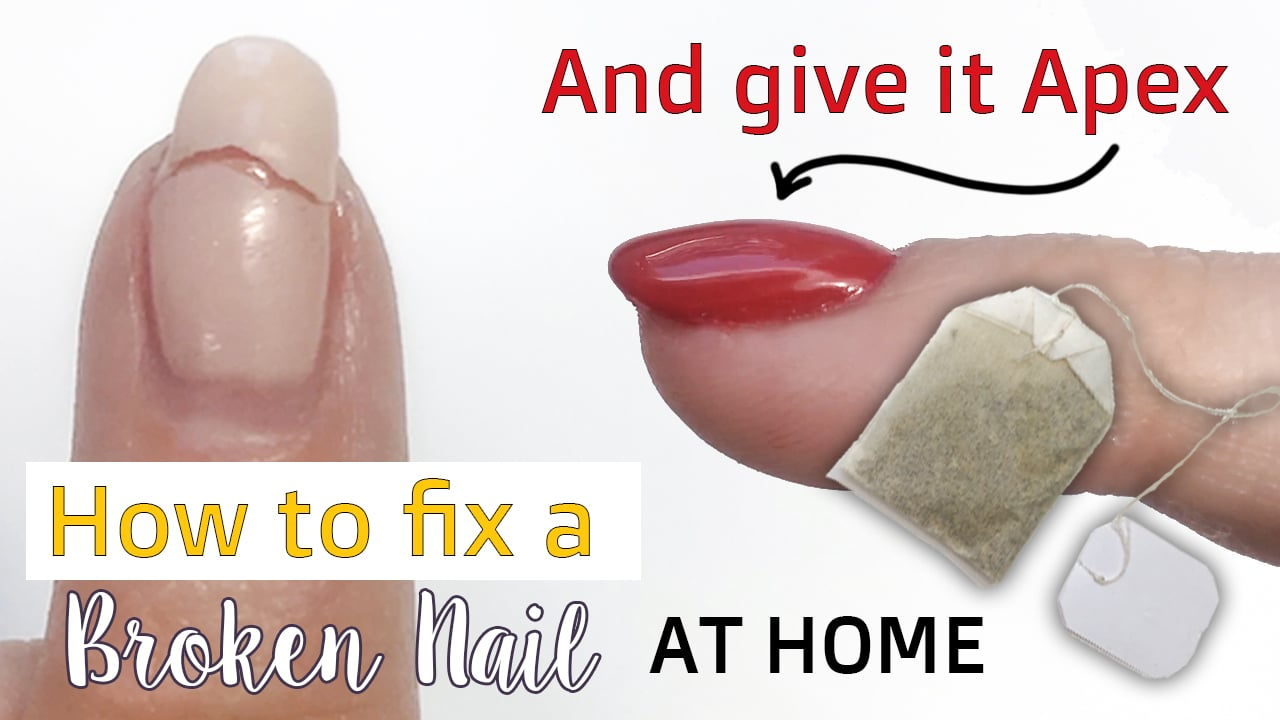 How to fix a Broken Nail At Home and add an Apex for strength