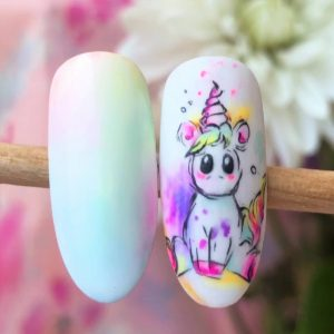 unicorn nailart tutorial